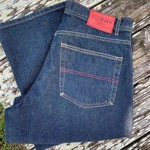VTG Men's Tommy Jeans Dark Wash Relaxed Fit